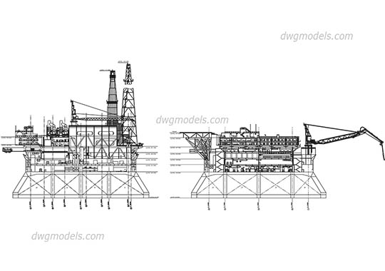 Aerial work platforms DWG, free CAD Blocks download