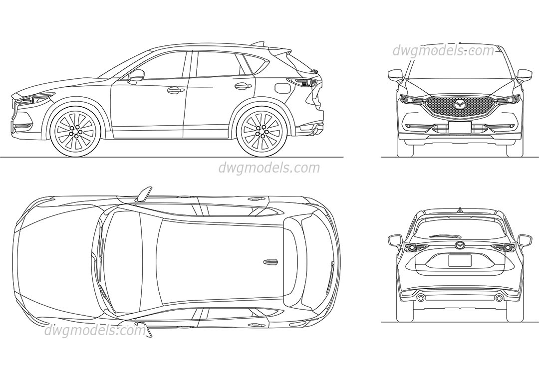 Mazda CX-5 (2017) dwg, CAD Blocks, free download.
