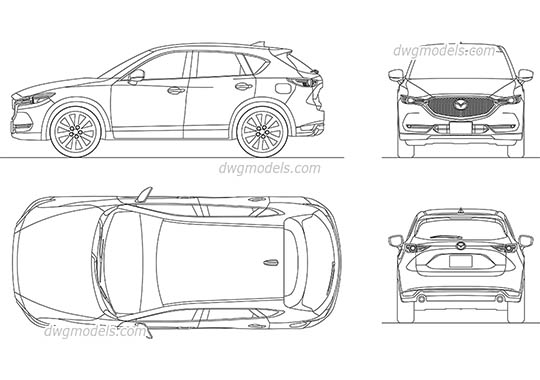 Mazda CX-5 (2017) AutoCAD blocks
