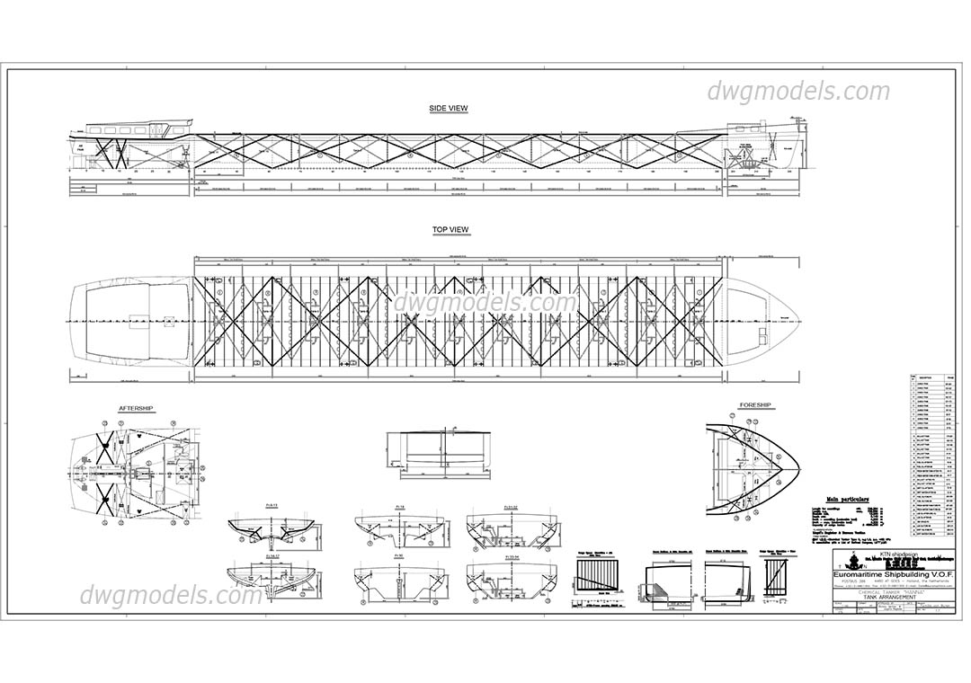 Chemical Tanker HANNA dwg, CAD Blocks, free download.