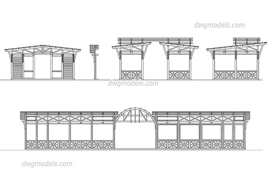 Wooden Structures free dwg model