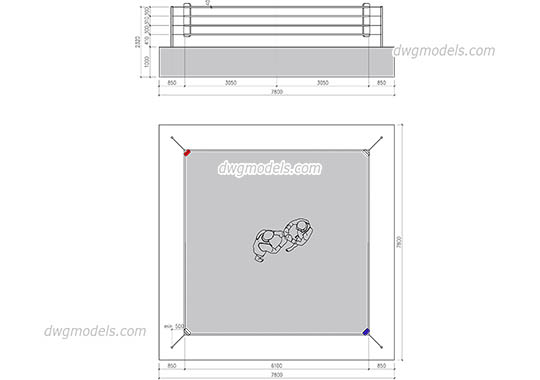 Boxing Ring free dwg model