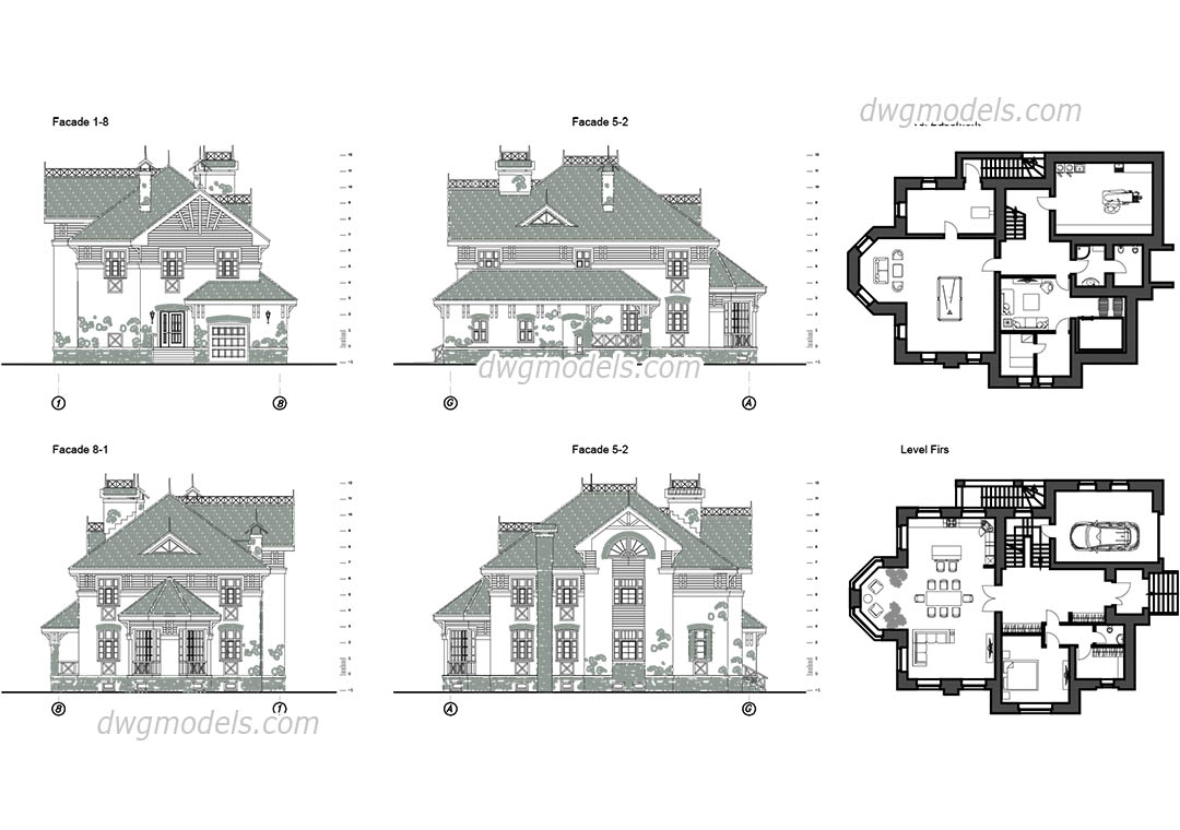 Villa 7 dwg cad blocks free download