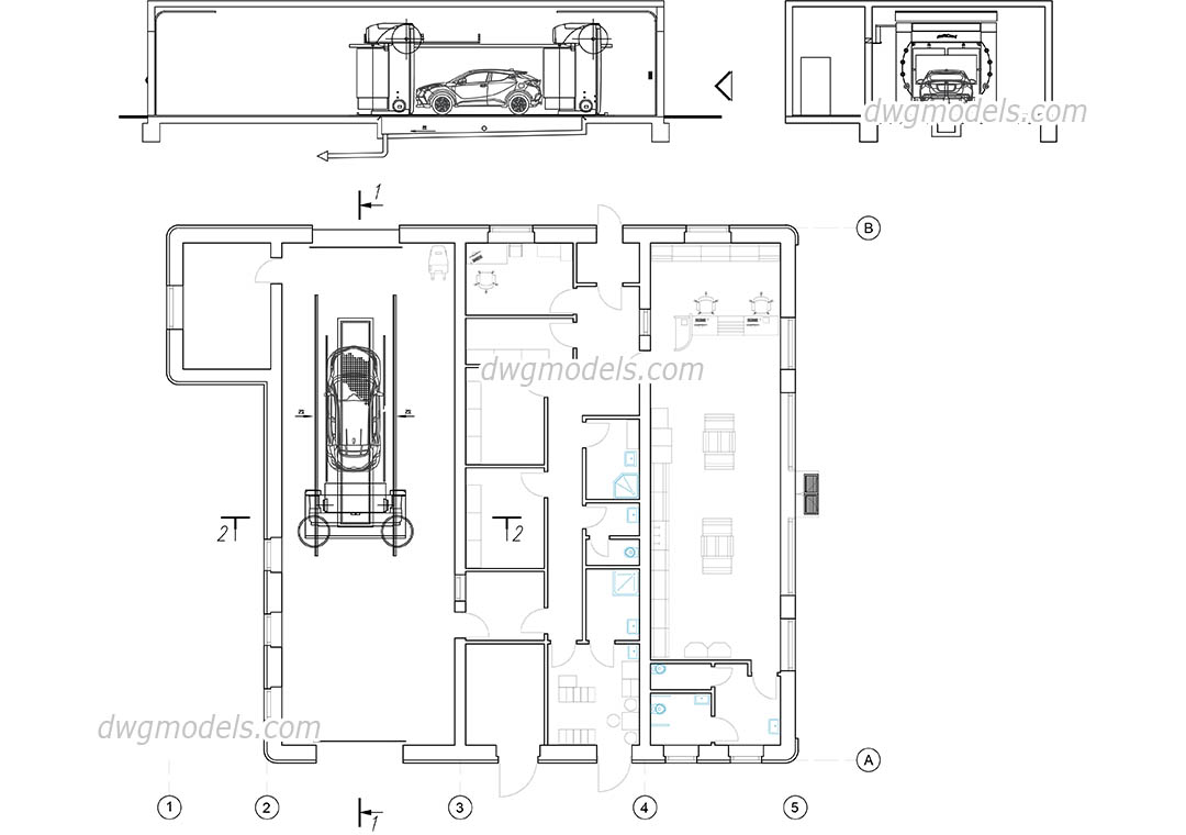 Car wash floor plan thecarpets co for Cad car plan