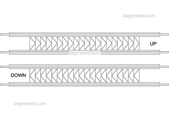 Travelator 2 - DWG, CAD Block, drawing
