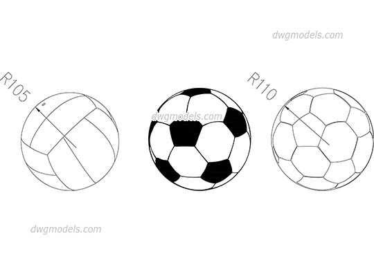 Soccer & Volleyball Balls free dwg model