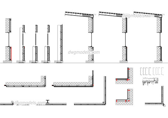 AutoCAD Construction details free download, architectural