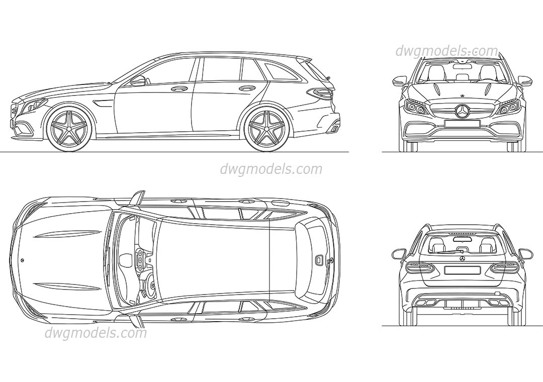 Mercedes-Benz AMG C63 (2016) CAD blocks, AutoCAD drawings download ...