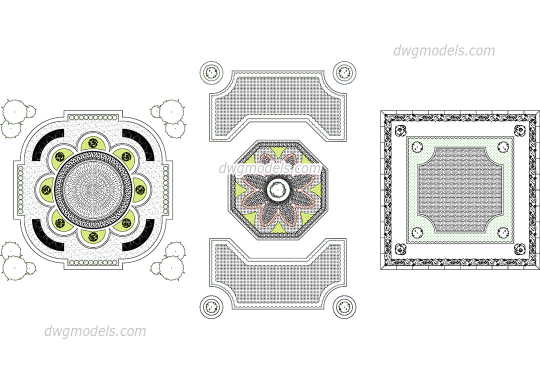 Parterre dwg, CAD Blocks, free download.