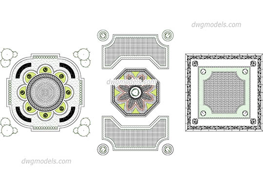 Parterre dwg, cad file download free