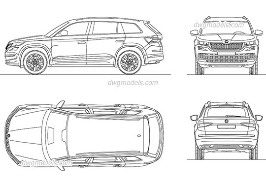 Skoda Kodiaq (2017) - DWG, CAD Block, drawing