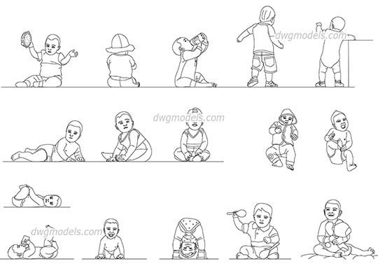 Baby dwg, cad file download free