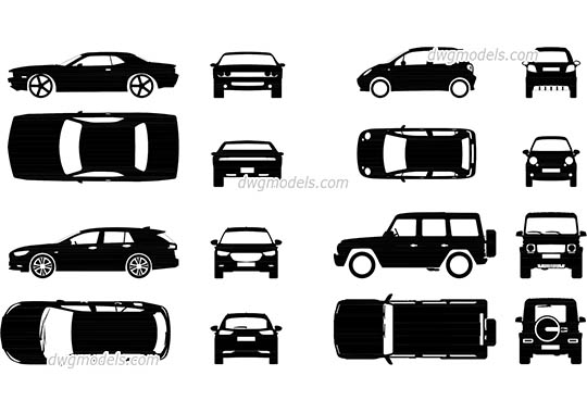 Сar Icons free dwg model