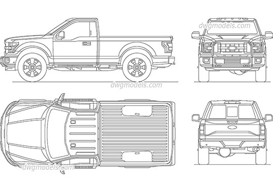 Ford F-150 - DWG, CAD Block, drawing.