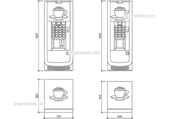 Vending Machine - DWG, CAD Block, drawing
