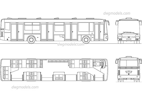 City Bus AutoCAD blocks