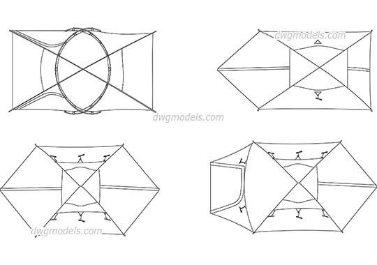 Tent dwg, cad file download free.