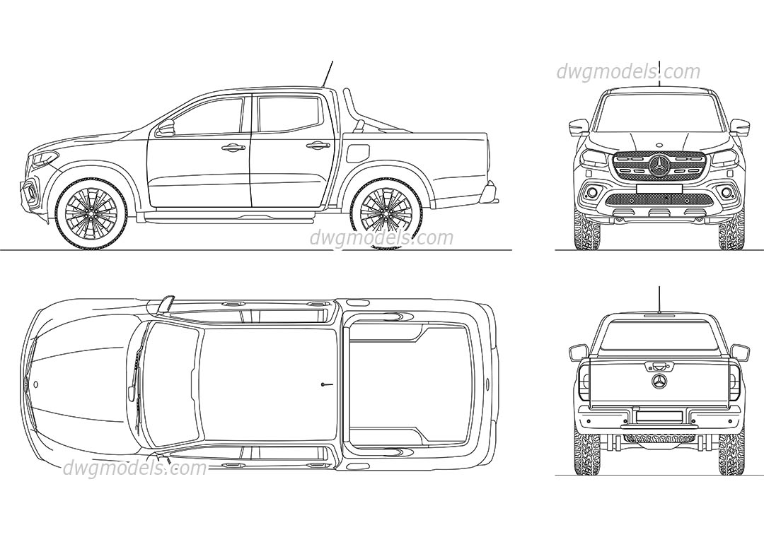 Mercedes Benz X Class on Ford Ranger Blueprint
