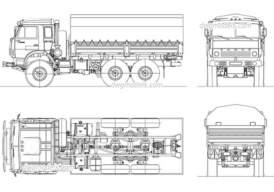 Tank DWG, free CAD Blocks download