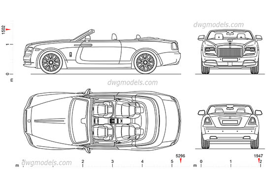 Rolls-Royce Dawn AutoCAD blocks
