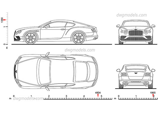 Bentley Continental GT AutoCAD blocks