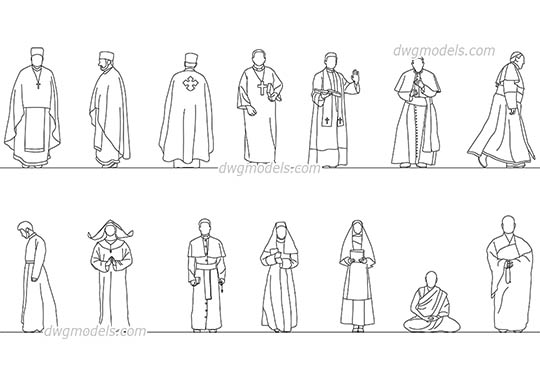 Religious Figure AutoCAD blocks