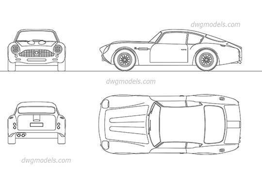 Aston Martin DB4 free dwg model