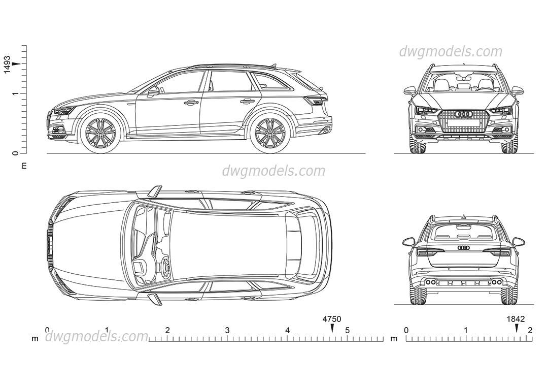 Audi a4 allroad dimensions