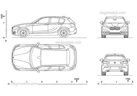 BMW 1 Series AutoCAD blocks