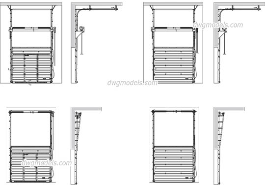 Industrial Sectional Door - DWG, CAD Block, drawing