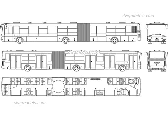SOR NB 18 City Bus AutoCAD blocks