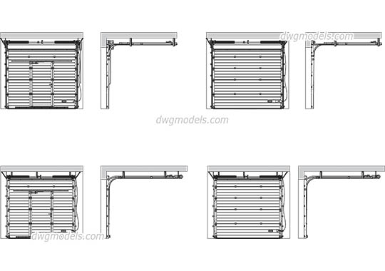 Industrial Sectional Door 2 free dwg model