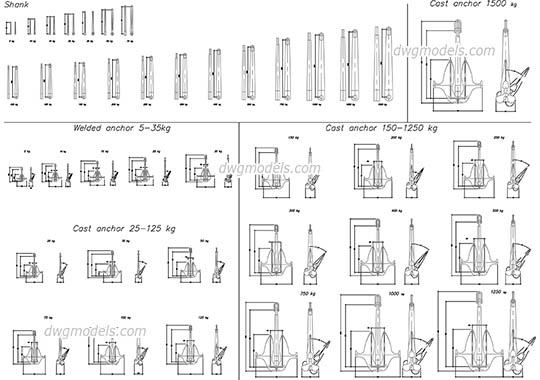 anchors hilti dwg  free cad blocks download