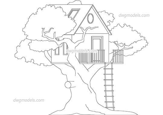 Treehouse dwg, cad file download free.