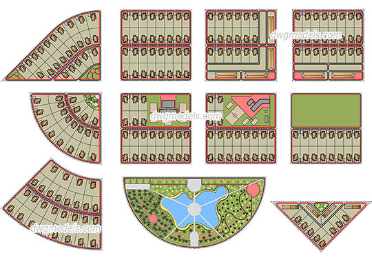 Town Planning free dwg model