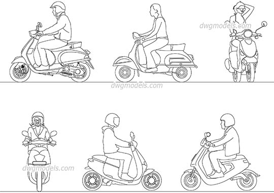 Scooter Driver free dwg model