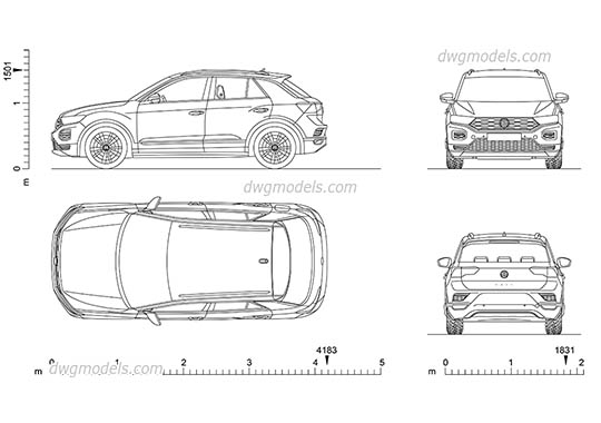 Volkswagen T-Roc - DWG, CAD Block, drawing