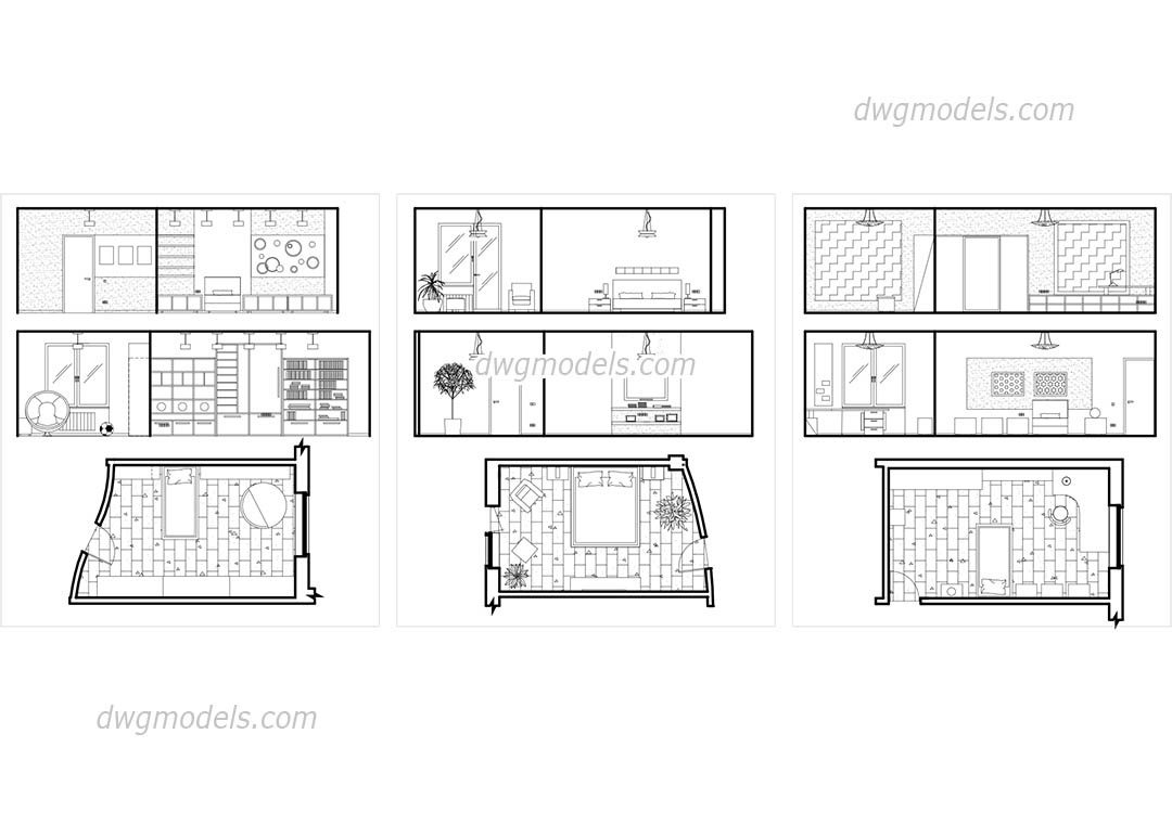 Bedroom Plans and Elevations free CAD drawings, AutoCAD file ...