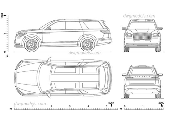 Lincoln Navigator (2018) (Prototype) AutoCAD blocks