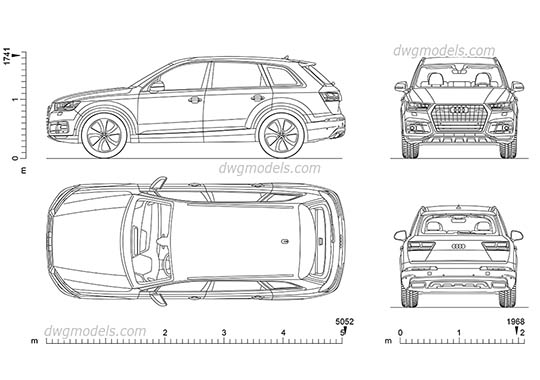 Audi Q7 AutoCAD blocks