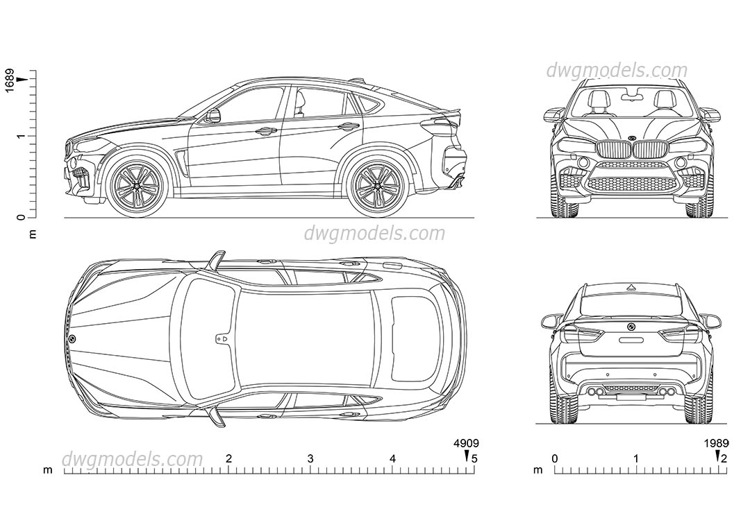 Bmw X6 Cad Model Download Car Drawing