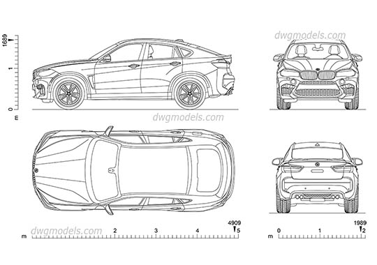 BMW X6 dwg, cad file download free