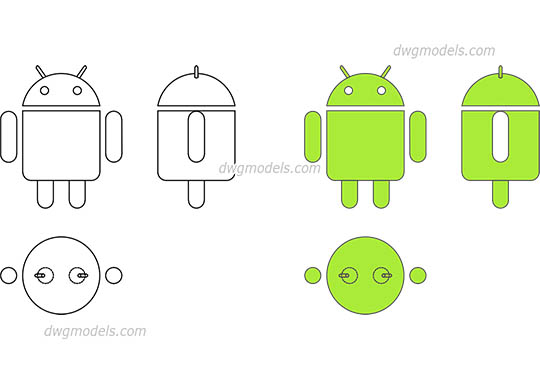 Android Logo free dwg model