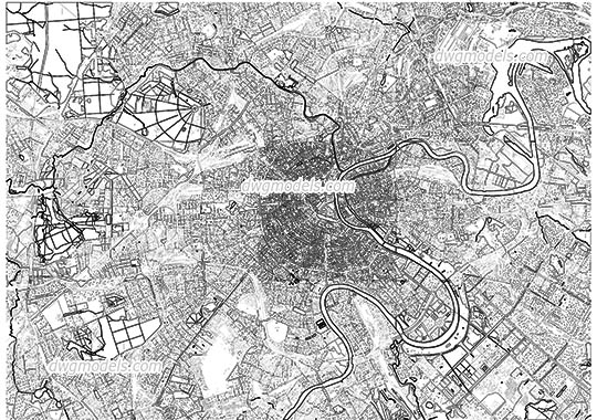 Map of Moscow - DWG, CAD Block, drawing