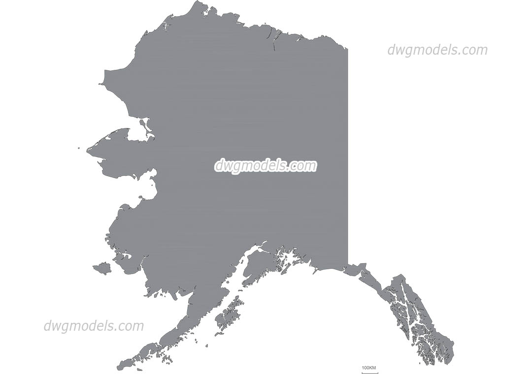 Map of alaska free vector file autocad png dwg eps formats map of alaska dwg cad blocks free download gumiabroncs Gallery