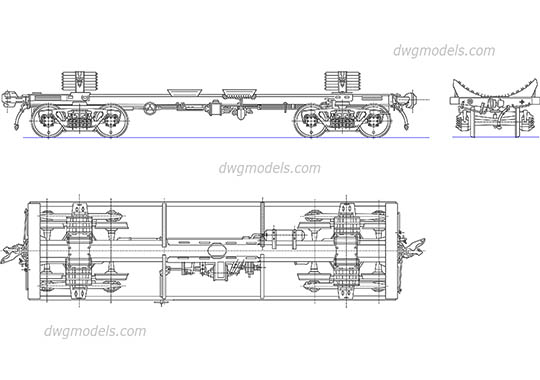 Freight Car Components free dwg model