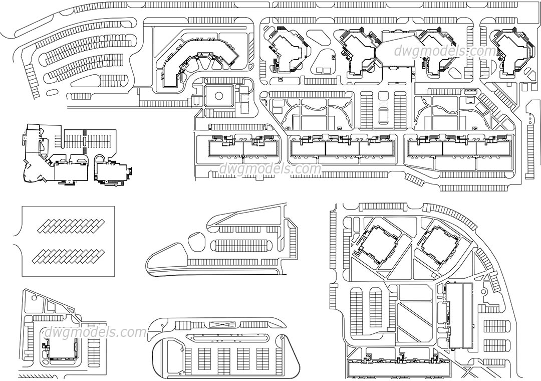 Parking Area dwg, CAD Blocks, free download.