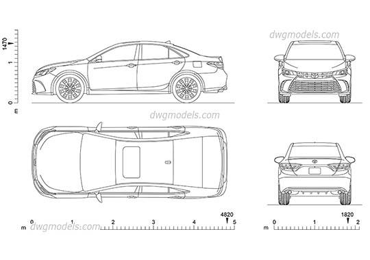 Car Front Elevation Autocad File : Dwg models download free cad blocks