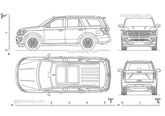 Ford Expedition free dwg model
