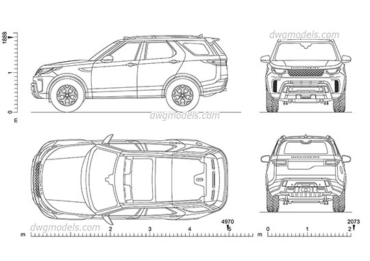 Land Rover Discovery SVX - DWG, CAD Block, drawing